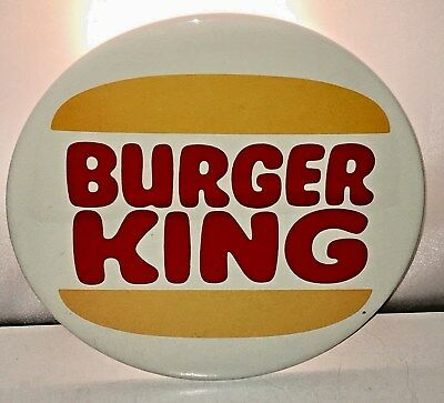 Giant Sized Burger King Pinback Button Sign