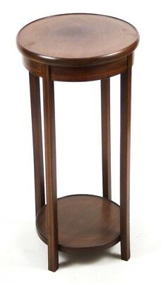 Antique Edwardian Inlaid Mahogany Plant Stand - FREE Shipping [PL4466]