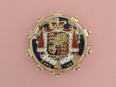 Antique Enamelled Silver Coin Brooch / Pendant - William IV Half Crown, 1834