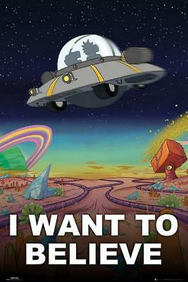 Rick and Morty : I Want To Believe - Maxi Poster 61cm x 91.5cm new and sealed