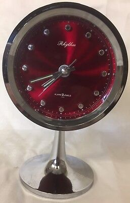Vintage WeckerTulpenfuß Rhythm Alarm 2Jewels/Japan