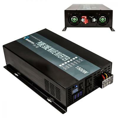 Reliable 1500W Full power Pure Sine Wave Solar Power Inverter Off Grid 12VDC...