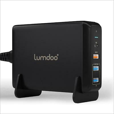 Lumdoo USB Type C 4-Port 75W Charger with Power Delivery for Apple MacBook,...