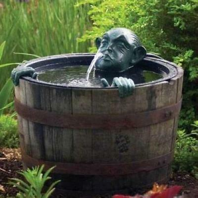 Aquascape Man In Barrel Spitter Fountain With Pump - Barrel Not Included 78016