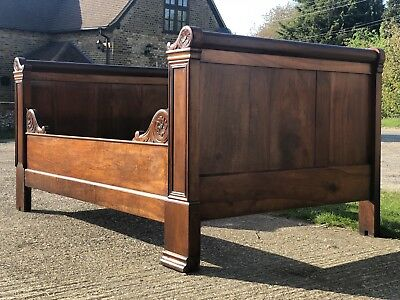 French Antique 19th Century Empire Day Bed Small Double Bed Proportions