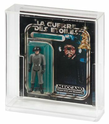 1 x GW Acrylic Display Case MOC Carded Meccano Vintage Star Wars Square -ADC -
