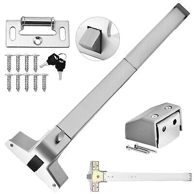 New Door Push Bar-Panic Exit Device Lock Emergency Hardware Latches Great