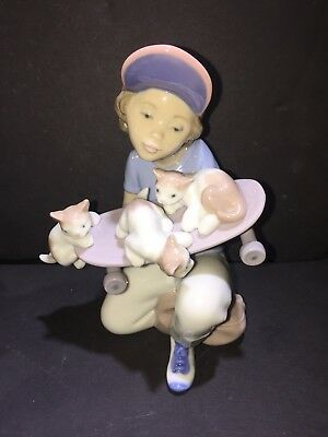 Retired Lladro Spain Little Riders # 7623 Porcelain Figurine