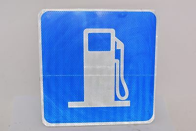 Lot of 2 NEW Gas Station Signs, Aluminum, 12'' H, 12'' W