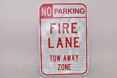 NEW No Parking Fire Lane Tow Away Zone Safety Sign, Aluminum, 18'' H, 12'' W