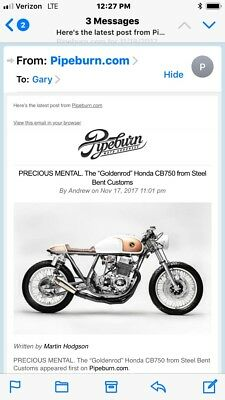 1978 Honda CB  Classic One Of A Kind Cafe Racer