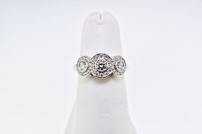 5e6bea957522d TIFFANY & CO. Circlet Diamond Platinum Engagement Ring Size 6-1/4 ...
