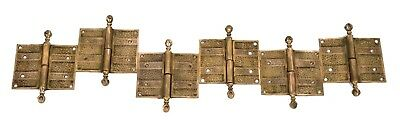 """ivy"" Pattern Interior Residential Salvaged Chicago Eastlake Style Door Hinges"