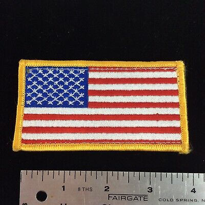 AMERICAN FLAG EMBROIDERED PATCH US w/ VELCRO® Brand Fastener