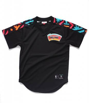 various colors eb96b 0df7a Mitchell   Ness Black NBA San Antonio Spurs Winning Team Mesh Jersey