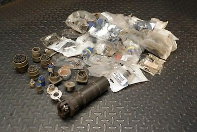 Large Lot of Genuine Amphenol, Cannon Connectors & Hardware -Unused