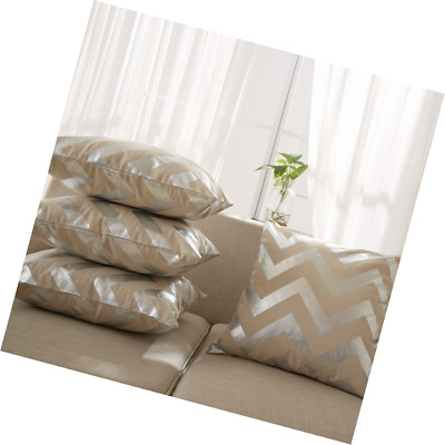 DECONOVO RECYCLED COTTON Square Pillow Case Silver Foil Printed Cushion  Cover Pi