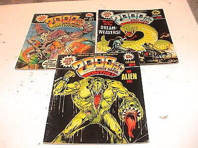 3x 2000AD Featuring Judge Dredd, Monthly 1985 No 1 5 6 Comic Book