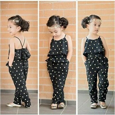 BRAND NEW Girls Jumpsuit Playsuit Summer Outfit Age 2 3 4 5 6 7
