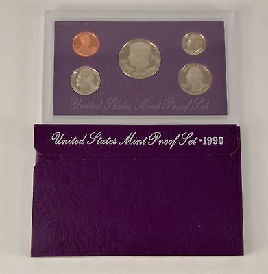 MBarr 1990 5 Coin United States Proof Set