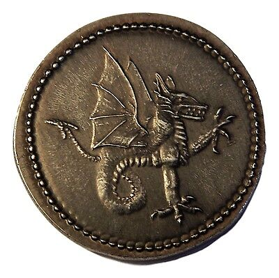 """VLAD TEPES/VLAD THE IMPALER,""""DRACULA"""" ANTIQUED IRON COIN-Shire Post Mint"""