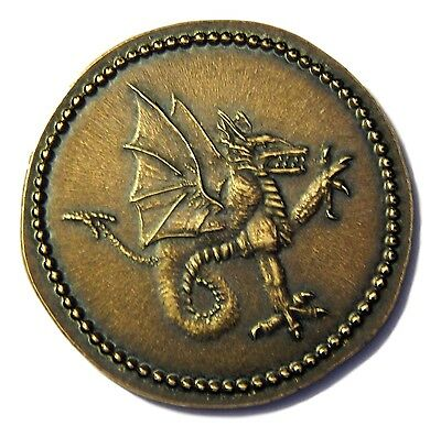 """VLAD TEPES/VLAD THE IMPALER,""""DRACULA"""" ANTIQUE BRASS COIN-Shire Post Mint"""