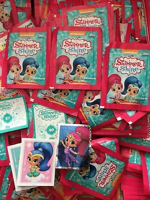 Topps Shimmer And Shine Stickers packets quantity 1,5,10,20,25,50,100 -  sealed