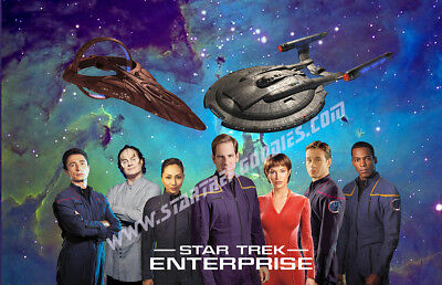 "Star Trek: Enterprise CREW POSTER with NX-01 & Vulcan 17""x11"" Get AUTOGRAPHED!"