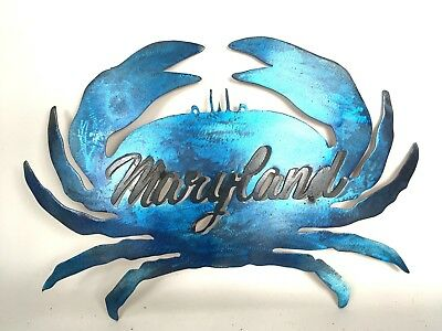 Blue crab / Metal Sign / Maryland / Wall Hanging / Wall Decor