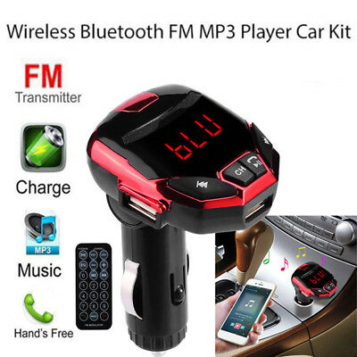 Bluetooth sans Fil Ensemble Auto Radio Adaptateur Allume-Cigare LCD