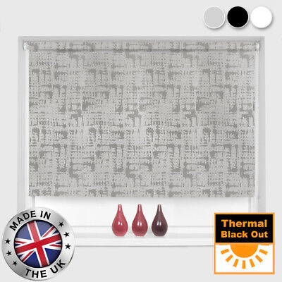Made To Measure 100% Thermal Blackout Waffle Patterned Roller Blinds - 3 Colours