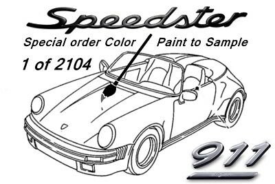 A Paint-2Sample Porsche 911 SPEEDSTER 930/20 The One&Only in this stunning Color