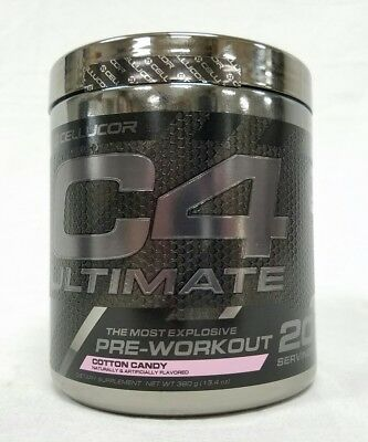 Cellucor C4 Ultimate 13.4oz Cans Cotton Candy 20 Servings Clumped Together Solid