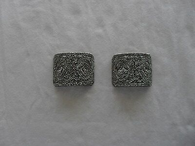 Pair of Antique/Vintage French Cut Metal Shoe Buckles or Clips