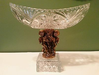 Vintage Compote Candy Nut Dish Cut Glass Regency Style