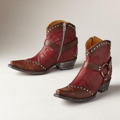 NWB Old Gringo CHIRIPA Ankle Harness Boots  Mango/Bone or Brass Red