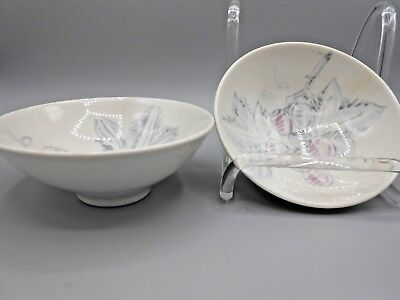 """2 Red Wing True China """"Vintage"""" Grapes Side Berry Dessert Bowls"""