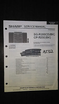 sharp sg r200cd cp r200 service manual original repair book stereo rh picclick com Pentrex DVDs 765 and 1225 DVDs