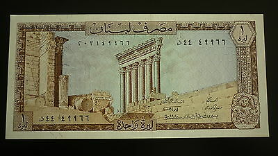 Lebanon One Livre  Banknote -  1978-80 -  Crisp Uncirculated
