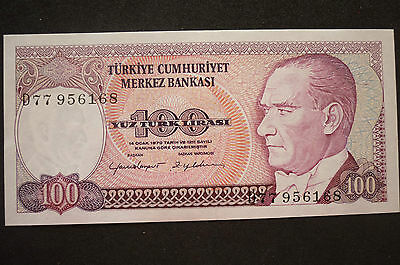 Turkey  100 Lira   Banknote -  1984-   Crisp Uncirculated