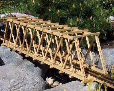 G Scale Model Railway Plans: Howe Truss Bridge