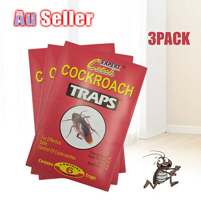 3 Pcs Cockroach Trap Bait Sticky Traps Glue Cockroaches Insect Bug Pest Control