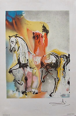 Salvador Dali Signed Dalinean Horses CHEVALIER CHRETIEN by Georges Israel SPADEM