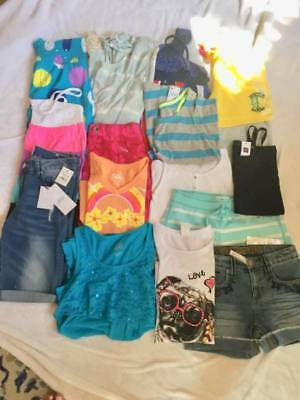 New Girls Size 12 Summer Lot*justice*gap*hudson For Girls*shorts*tops*skorts*