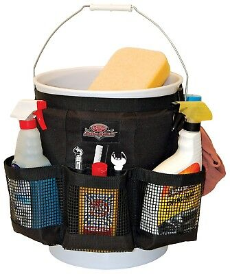 Car Wash Bucket Kit Cleaning Organizer Bag w/Mesh Pocket Pouch Water Resistant