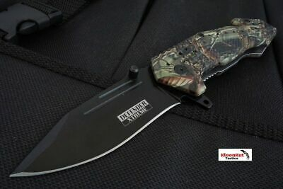 """7.5""""Defender Extreme Camo RESCUE Tactical Spring Assisted Open Pocket Knife ABS"""