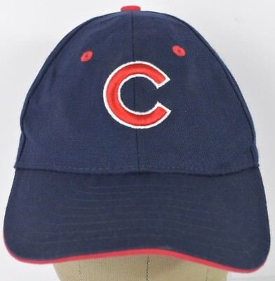 14916e1db389d Navy Blue Chicago Cubs Team Logo C Embroidered Baseball Hat Cap Adjustable
