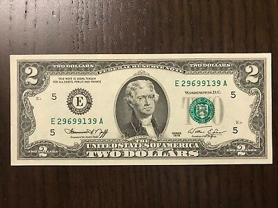 USA 1976 2$ UNC Federal Reserve Note.