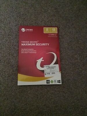 trend micro maximum security 2 device 12 month subscription