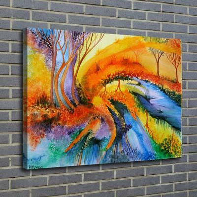 """12""""x18""""Abstract Poster Painting Print on Canvas Home Decor Room Wall Art Picture"""